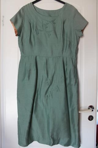 Vintage kjole i silke