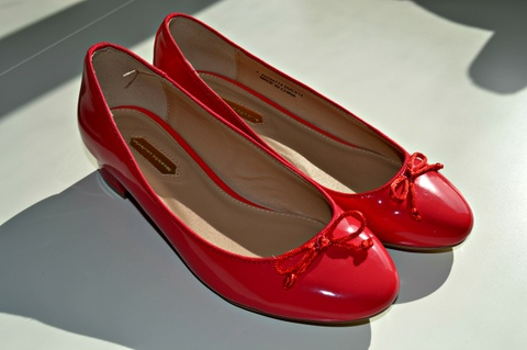 02b8aa9d Ballerina str 37 Blanke sko Bloppis røde 560nqwv