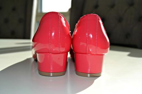 sko str37 Bloppis røde Blanke Ballerina bvYg6yf7
