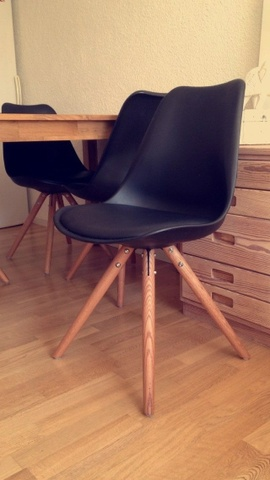 Retro spisebord m. 4 stoler - Bloppis