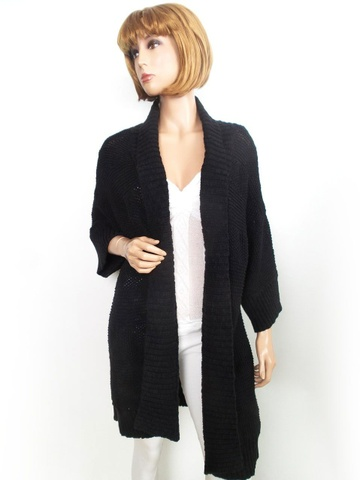 9a49ed5c By Malene Birger XS cardigan genser tykk pels lommer size svart - Bloppis