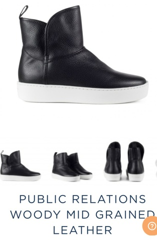 PUBLIC RELATIONS WOODY MID GRAINED LEATHER