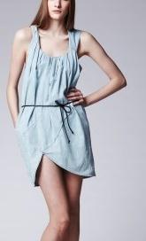 Acne Ayita kjole i lys denim