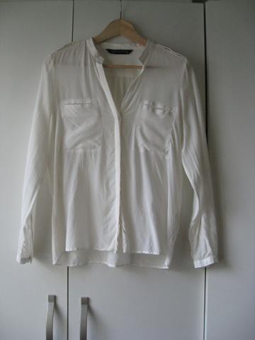 cb640023 Hvit silkebluse fra ZARA: - Bloppis