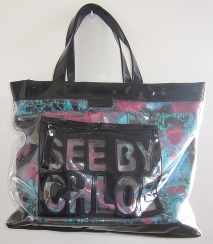 REDUSERT! See by Chloe stor transparent toteveskebag Bloppis