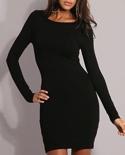 294634f9 Sort enkel kjole, Gina Tricot - Bloppis