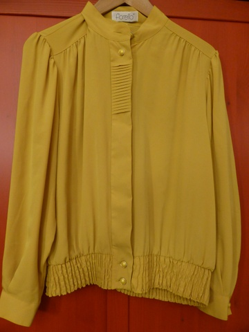 9e84c5bb Sennepsgul vintage bluse - Bloppis