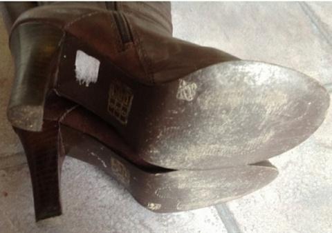 Bianco Skinn Støvler i Mørkt Brunn Bloppis