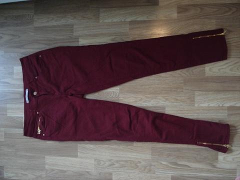 800f1e66 Vinrød bukse fra Zara - Bloppis